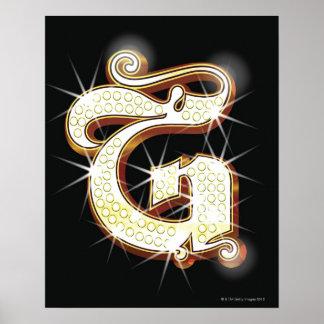 Alphabet G de Bling Posters