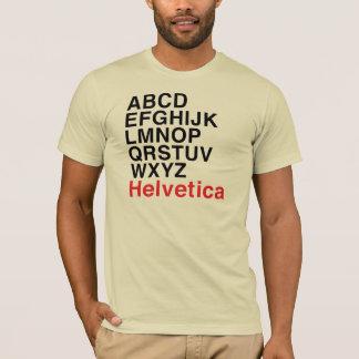 Alphabet helvetica de police t-shirt