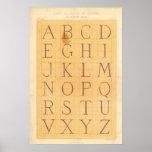 Alphabet (Lettres) Poster