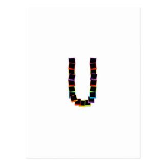 Alphabet U avec coloré Carte Postale