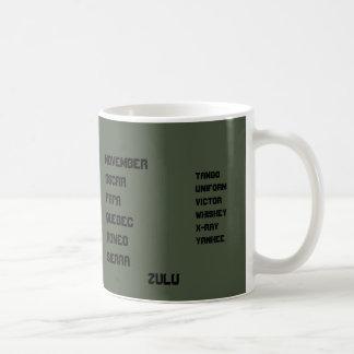 Alphabet vert de l'OTAN d'OD Mug