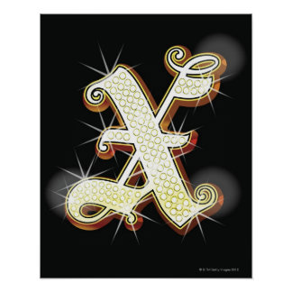 Alphabet X de Bling Posters