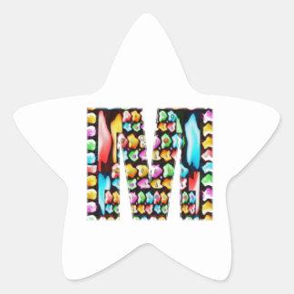 Alphabets décoratifs - don de partie sticker étoile