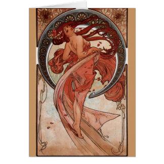 Alphonse Mucha, carte de voeux de Nouveau d'art de