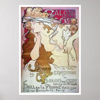 Alphonse Mucha. Cent de DES de salon, 1896 Posters