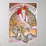 Alphonse Mucha. Chansons D 'Aieules, c.1898 Posters