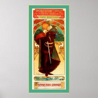 ~ Alphonse Mucha de Hamlet de ~ de Sarah Bernhardt Affiches