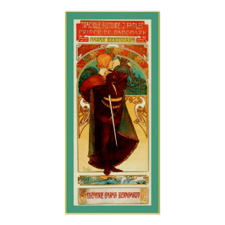 ~ Alphonse Mucha de Hamlet de ~ de Sarah Bernhardt Poster