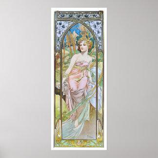 Alphonse Mucha. Eveil Du Matin Posters