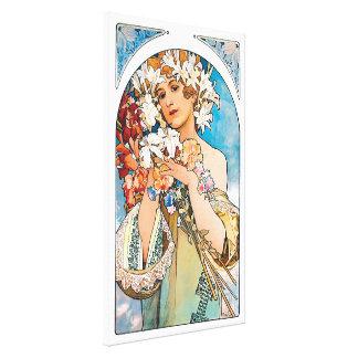 Alphonse Mucha - fleur - rétro art Nouveau Toiles