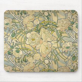 Alphonse Mucha - fleurs Tapis De Souris