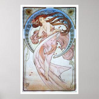 Alphonse Mucha. La Danse/danse, 1898 Posters