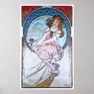Alphonse Mucha. La Peinture/peinture, 1898 Posters