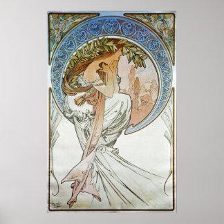 Alphonse Mucha. La Poesie/poésie, 1898 Posters