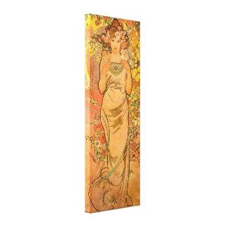 Alphonse Mucha l'affiche de toile de rose Toiles