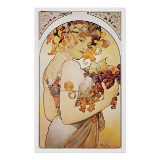 Alphonse Mucha. Le Fruit/fruit, c.1897 Posters