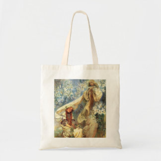 Alphonse Mucha Madonna du sac fourre-tout à lis