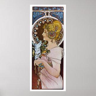 Alphonse Mucha. Plume de La/stylo, 1899 Posters