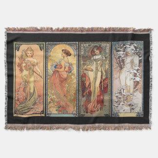 Alphonse Mucha quatre couvertures de saisons Couverture