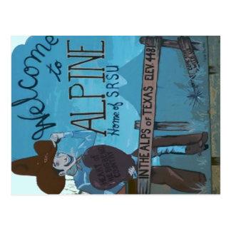 Alpin, signe bienvenu de TX Carte Postale