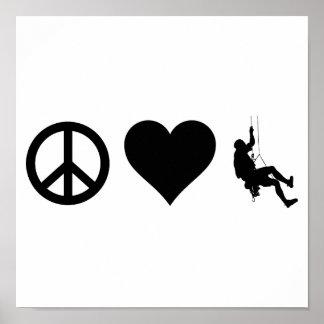 Alpinisme d'amour de paix poster