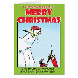 Alpinisme de Père Noël Carte De Vœux
