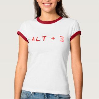 Alt + 3 t-shirts