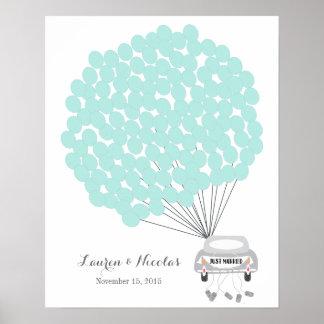 Alternative de livre d'invité de mariage avec des poster