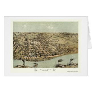 Alton, carte panoramique de l'IL - 1867