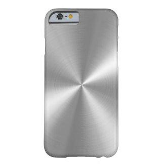Aluminium balayé par faux de PixDezines Coque iPhone 6 Barely There