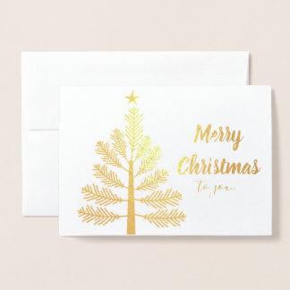 Aluminium de carte de Noël d'OL