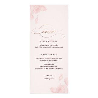 Aluminium floral de faux de menu de mariage carton d'invitation  10,16 cm x 23,49 cm