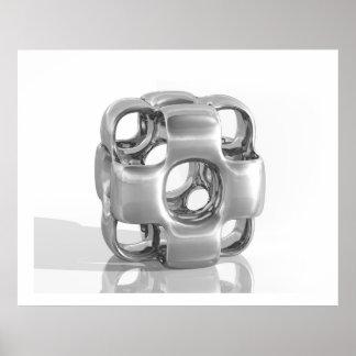 Aluminium poli par InCubed virtuel de sculpture Posters