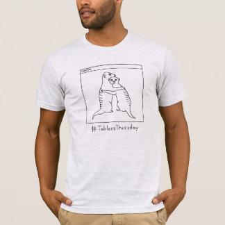 AM. Chemise grise #TablessThursday de Meerkat T-shirt
