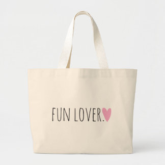 Amant d'amusement avec le coeur grand sac