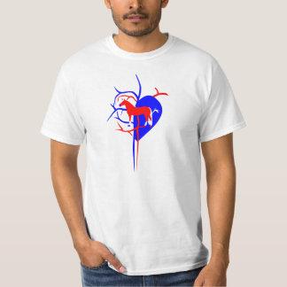 Amant de cheval de Haflinger T-shirt