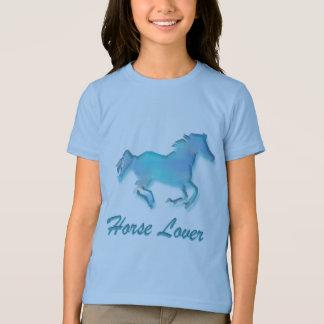Amant de cheval en turquoise t-shirt