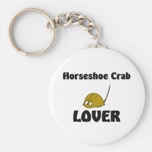 Amant de crabe en fer à cheval porte-clefs