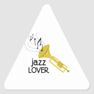 Amant de jazz stickers en triangle