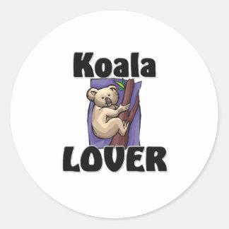 Amant de koala sticker rond