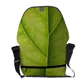 Amant de nature vert de feuille sacoches