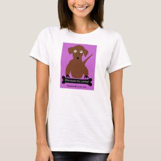 """""""Amant de teckel"""" dans le rose T-shirt"""