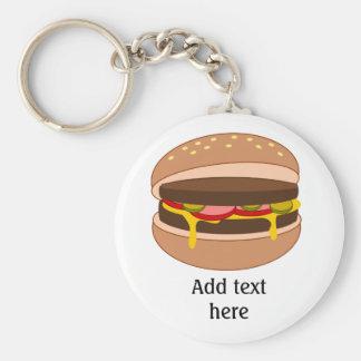 Amant d'hamburger - personnalisez ce graphique porte-clé rond