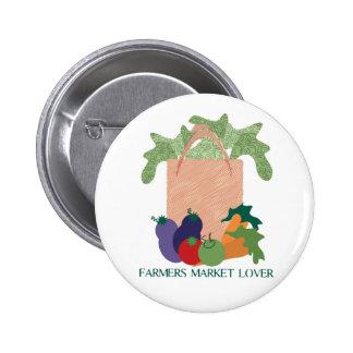 Amant du marché d'agriculteurs pin's avec agrafe