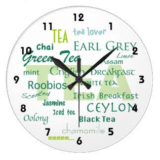 Amant-Ombres de thé de nuage vert de mot Grande Horloge Ronde