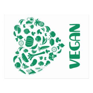 Amant végétalien carte postale