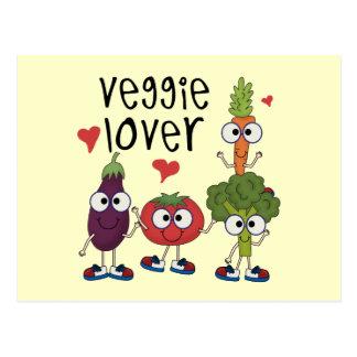 Amant végétarien carte postale