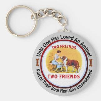 Amants de chien et d'animal familier de St Bernard Porte-clé Rond