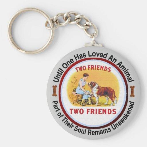 Amants de chien et d'animal familier de St Bernard Porte-clés