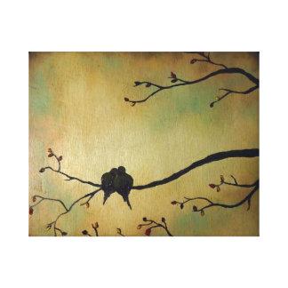 Amants d'oiseaux toiles